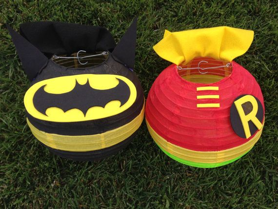 Batman and Robin Inspired Super Hero Paper Lantern Decoration