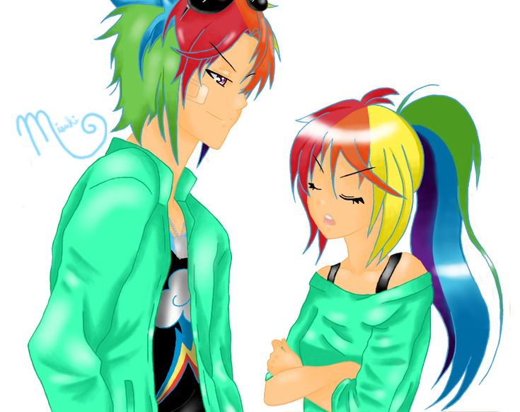 Applejack And Rainbow Blitz Kiss Face the rainbows on pinterest ...