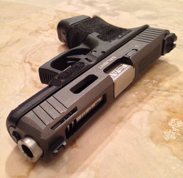 (Salient Arms custom glock) pistol, guns, weapons, self defense, protection, 2nd amendment, America, firearms, munitions #guns #weapons