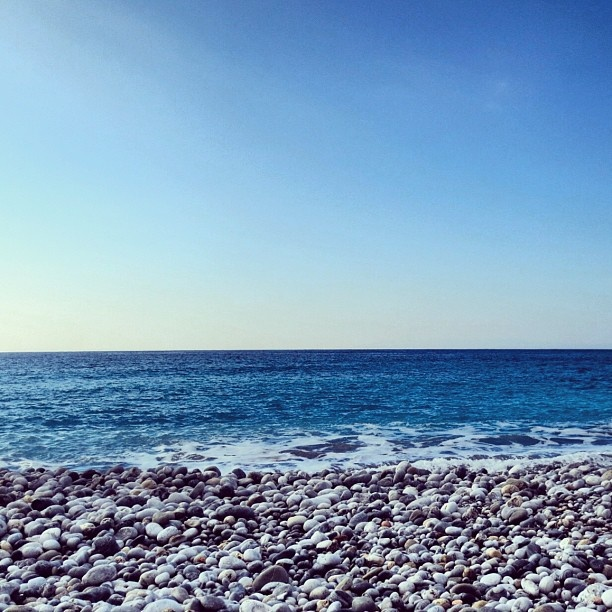 "As the waves roll out to sea...The beautiful ""Ritsa"" beach in Kardamyli Greece. #Padgram"