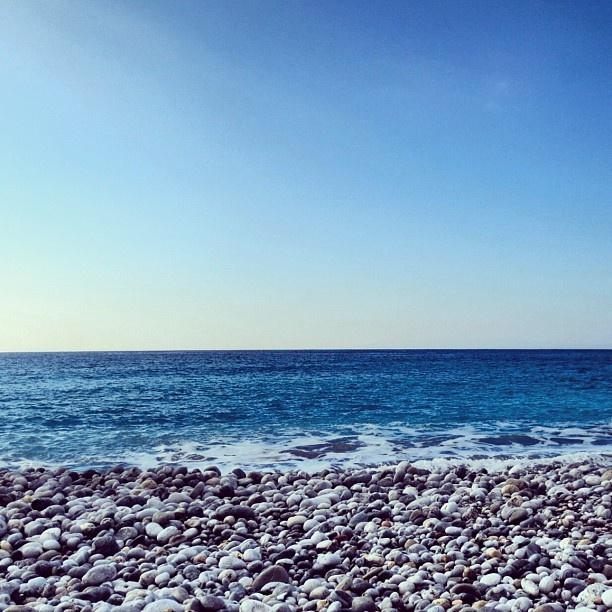"As the waves roll out to sea...The beautiful ""Ritsa"" beach in Kardamyli Greece. #Padgram"