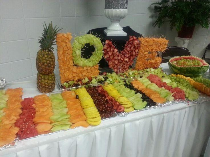 Love Fruit Display For Wedding Reception Event Decor Food Displays Pinterest Receptions