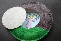 Jesus / tomb: Crafts For Kids, Crafts Ideas, Sunday Schools Easter Crafts, Paper Plates Crafts, Paper Plate Crafts, Bible Class, Preschool Crafts, Easter Ideas, Sunday Schools Crafts