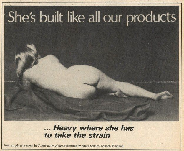 From Construction News, UK. | 15 Unbelievably Sexist Adverts From The 1970s