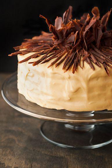 pumpkin chocolate salt caramel cake recipe | use real butter