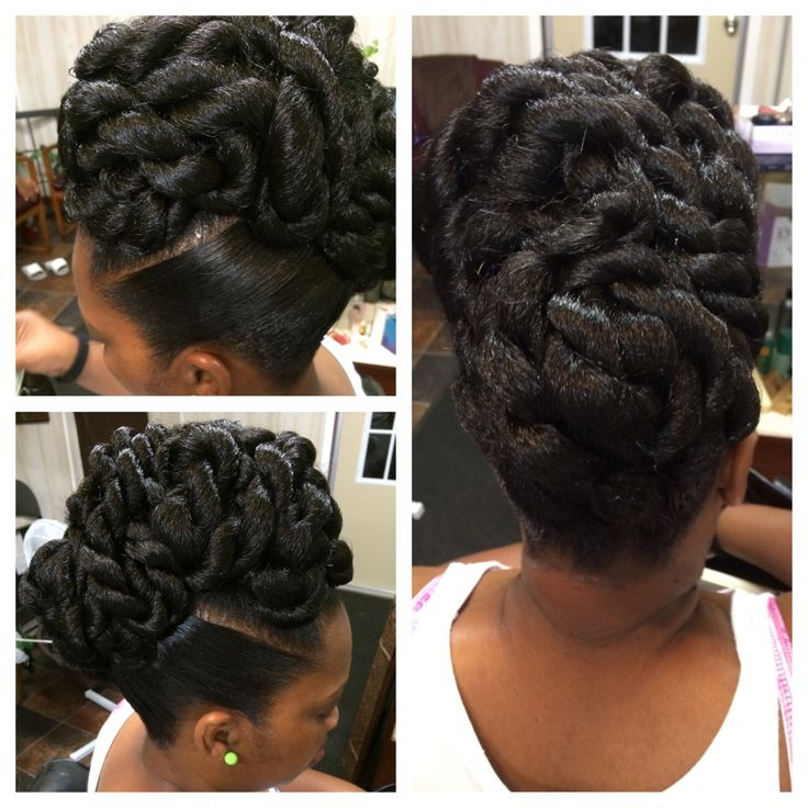 Rope twist updo