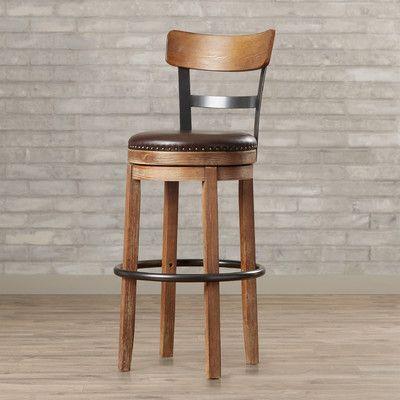 "Trent Austin Design Lynwood 30.25"" Swivel Bar Stool with Cushion & Reviews | Wayfair"