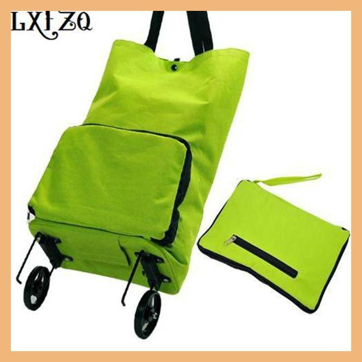 LXFZQ fashion folding shopping bag bolsa compra Portable shopping bags reusable on wheels shopping trolley bag truck a bagS