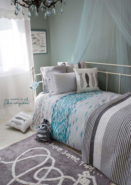 6663 best decoracion images on pinterest for Habitacion azul turquesa