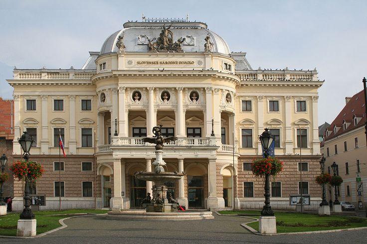 Slovak National Theatre in Bratislava, Slovakia http://timeforslovakia.com/best-of-bratislava