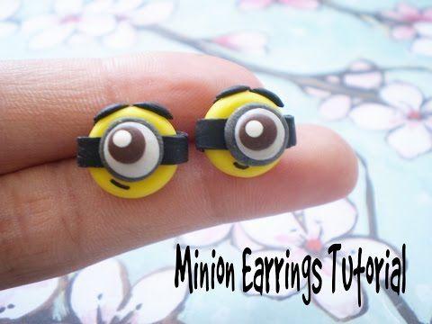 ▶ DIY Polymer Clay Minion Earrings! - YouTube