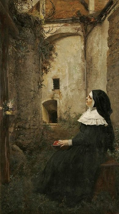 Wagner, Ferdinand, Jr  (b,1847)- Contemplating Nun -2a