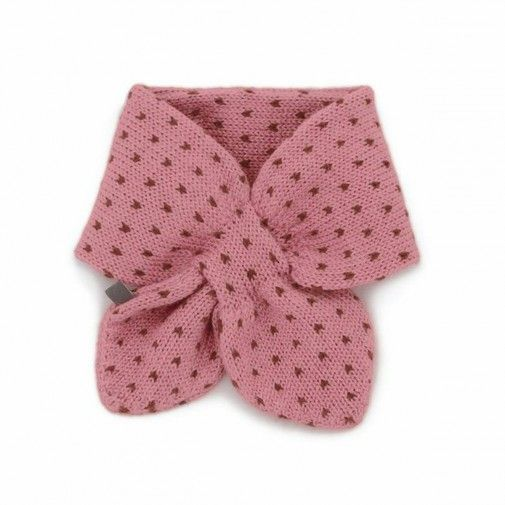 Oeuf Nyc Pink Neckie With Dots Oeuf Ny Baby Clothing