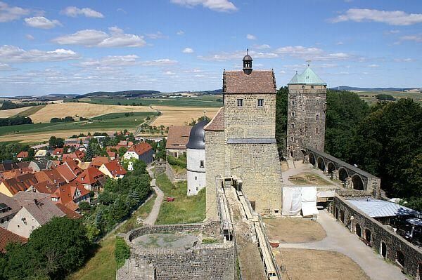 Burg Stolpen Im Coselturm lebte die ehemalige Mätresse von August dem Starken 49 Jahre lang bis zu ihrem Tode 1765.  - In der sächsischen Schweiz