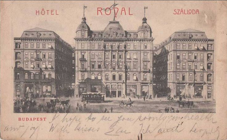 #ThrowbackThursday. Post card of the Grand Hotel Royal in 1903. Check the variety of transportation vehicles on the Elizabeth Boulevard. Do you know what was the number of the boulevard tram's early version?