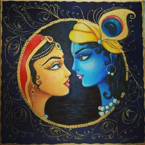 beautiful radharani & lord krishna by krishna.d.asi