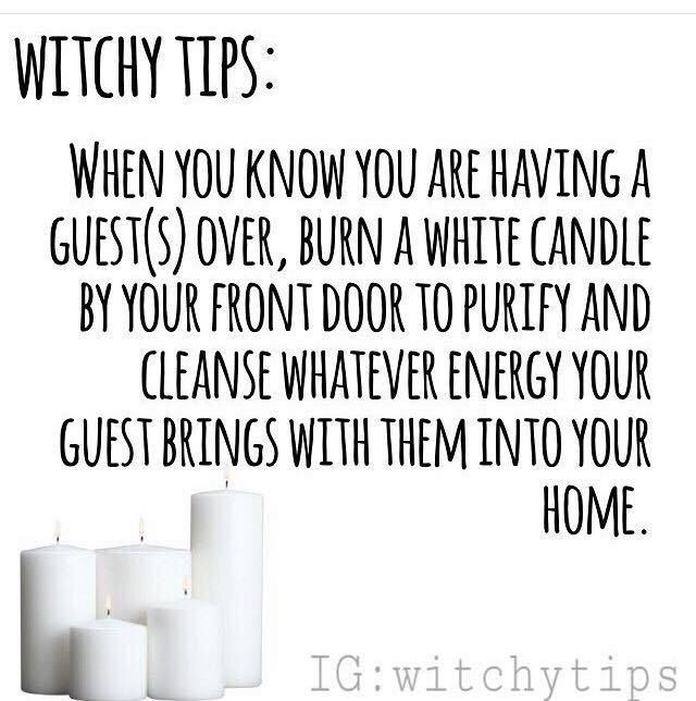 Witchy tip for guests.