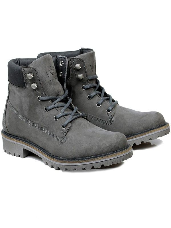 Vegan Vegetarian Non-Leather Womens Dock Boots in Grey