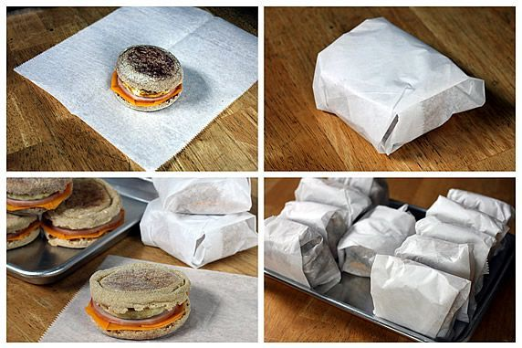 Make ahead breakfast sandwiches. These are going to be a life saver (well, a time, calorie and money saver, at least)!