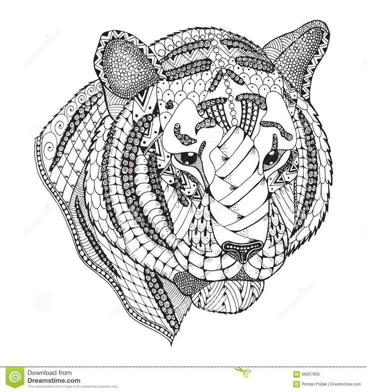 Pin by Barbara on coloring lion, tiger Chinese zodiac