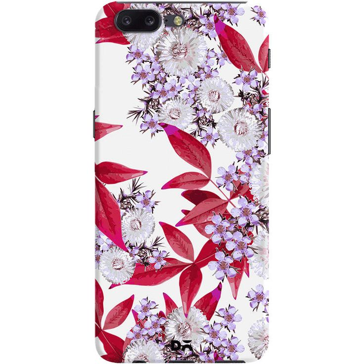 Floral art on smartphone cases l DailyObjects Final Party Red Case Cover For OnePlus 5 Designed by Zala Farah
