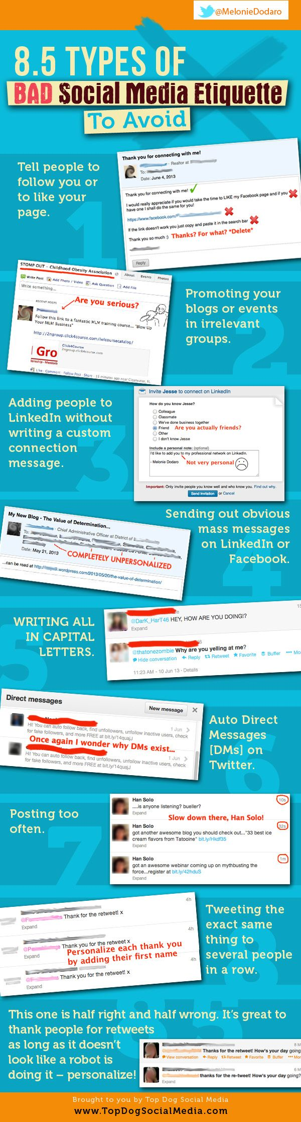 8.5 Types of Bad Social Media Etiquette That Are Ruining Your Strategy #Infographic