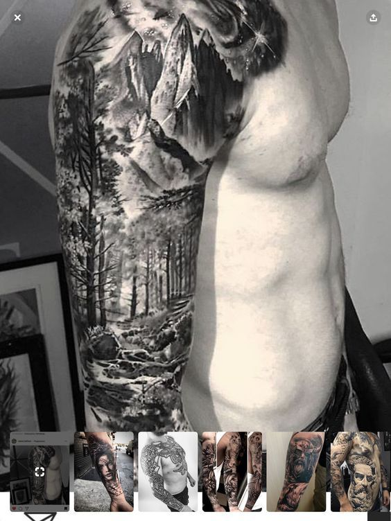 40 fabelhafte Berg Tattoo Designs
