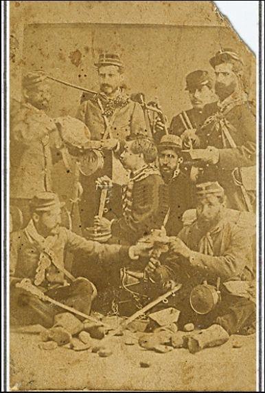 zapadores chilenos, foto tomada posiblemente en 1880