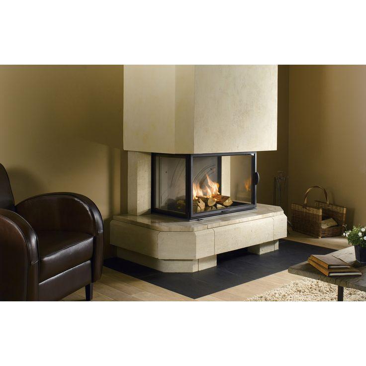 Habillage de cheminée en pierre Air | Leroy Merlin                                                                                                                                                                                 Plus