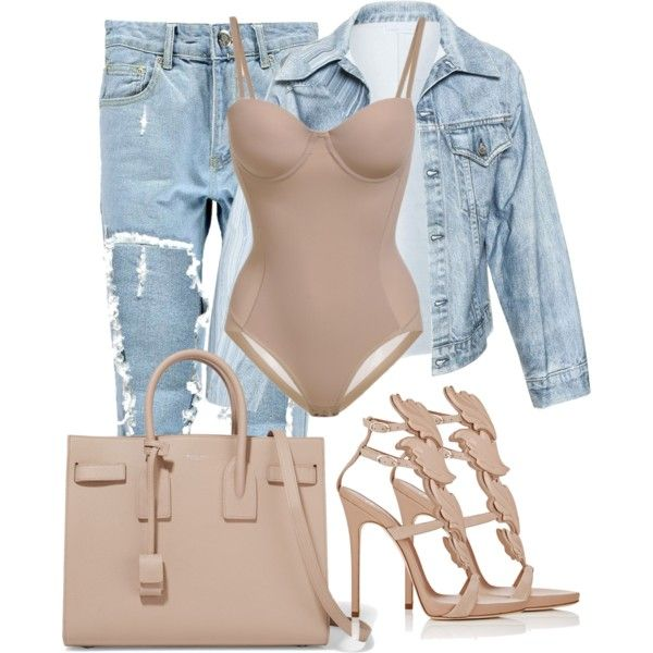 A fashion look from April 2016 featuring Faustine Steinmetz jackets, Boohoo jeans and Giuseppe Zanotti sandals. Browse and shop related looks.