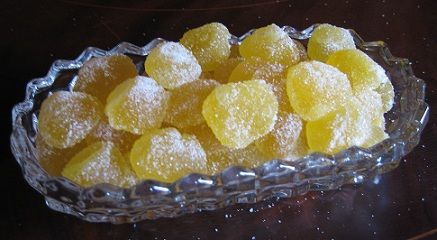 Homemade Lemon Gumdrops. Can use same recipe for other gum drops: apple, cherry, etc. I plan to experiment :)