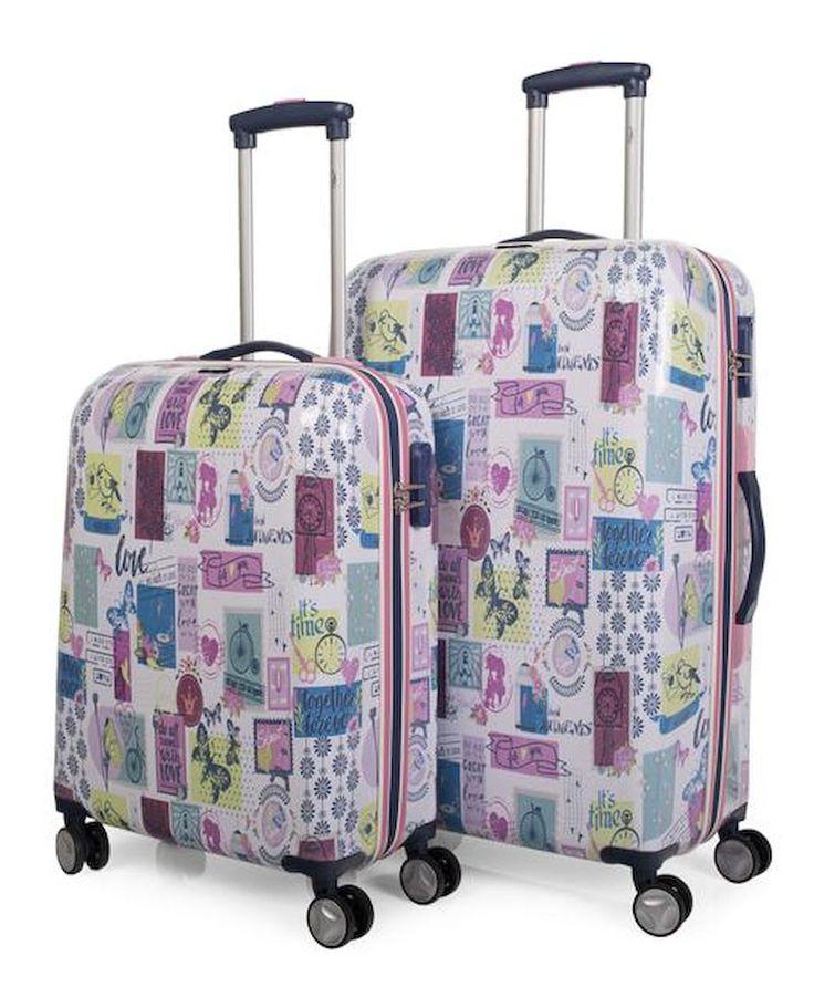 #Juego de maletas rígidas #Skpa-t en tonos rosas serie candy