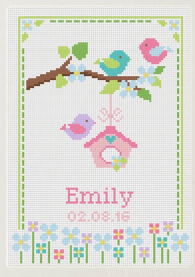 Cross stitch baby girl