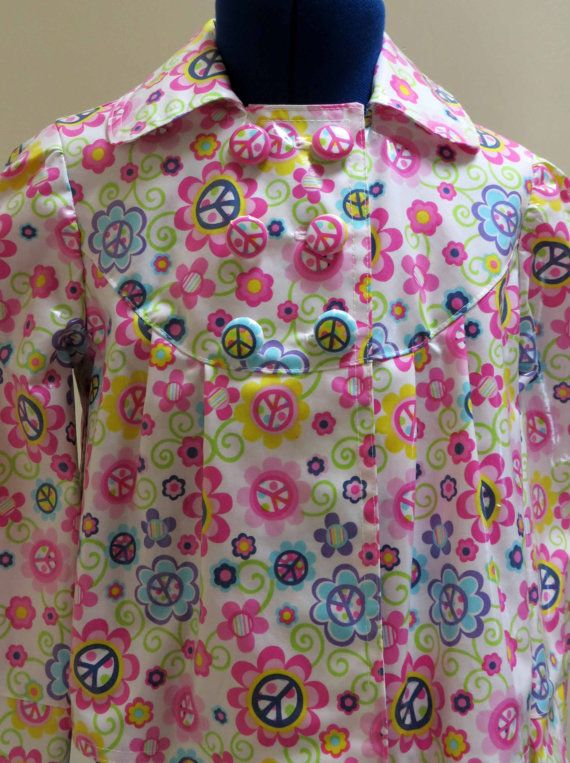 Girls Rain Jacket Fully Lined Jacket by HoneyMyrtleStudio on Etsy