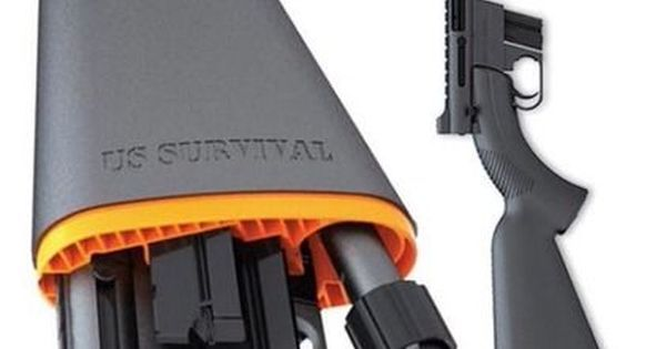 Liked on Pinterest: Henry US Survival Rifle AR-7:   Leave it to Henry Rifles to take a design and improve upon it.  The AR-7 was the civilian version of an Air Force survival rifle designed by Eugene Stoner which Henry acquired the rights to circa 2007.  As you can see from the picture the rifle disassembles and fits into its own buttstock which is water resistant (Henry claims it will float and it may but dont bet on it).