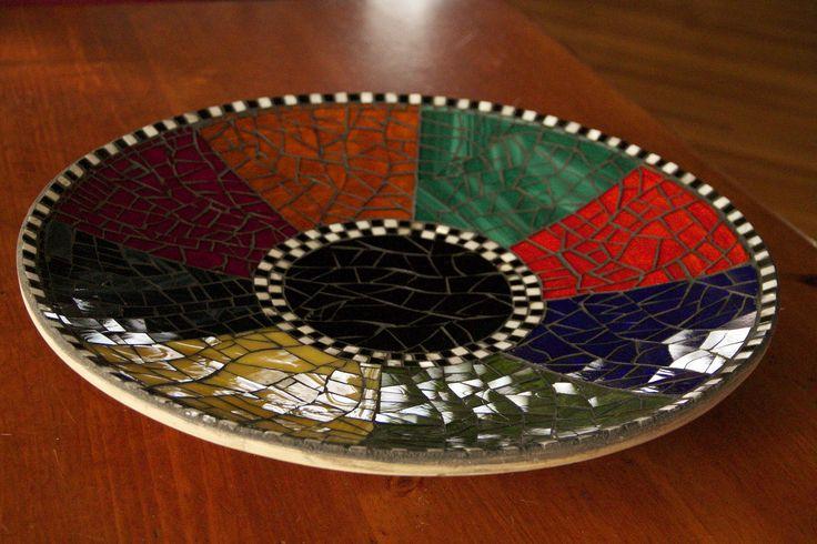 Mosaic on bamboo bowl | Flickr - Photo Sharing!