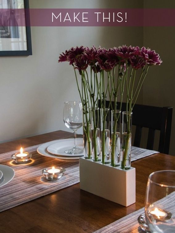 Makle this simple DIY test tube vase!