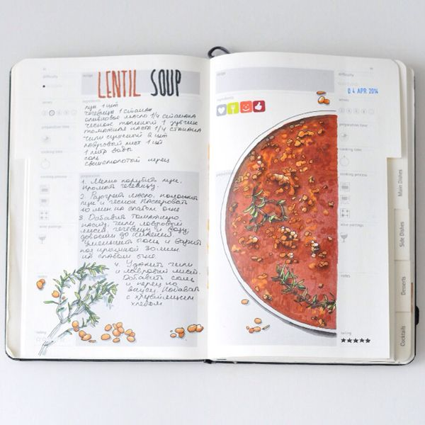 Recipe journal 2014 on Behance This is amazing, I'd like to do something similar to this for a family cookbook