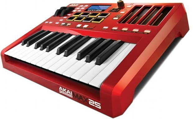 New Akai Max25 MIDI Controller Offers CV/Gate, Aftertouch & A Built-In Step Sequencer