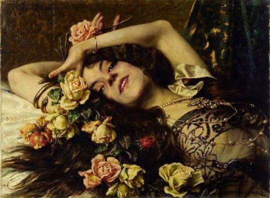 Angelo Garino (1860-1945) - Fiori semplici e fiore raro, 1915