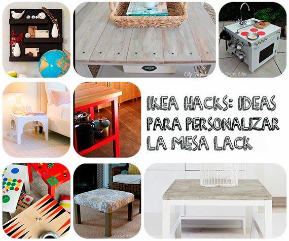 IKEA HACKS: ideas originales para personalizar las mesas auxiliares LACK de IKEA, dándoles nuevos usos y apariencia.