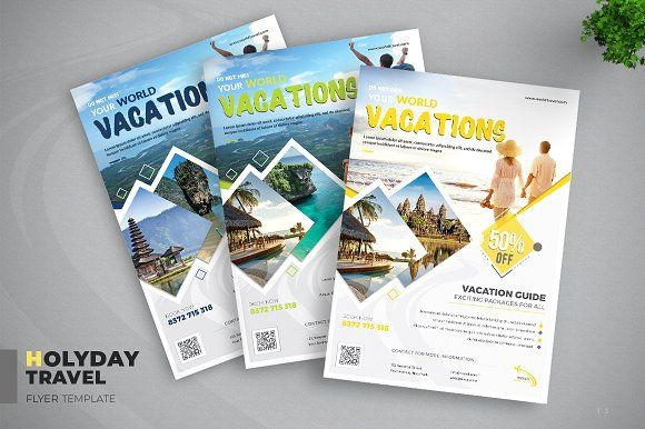 Travel Vacation Flyer Travel Brochure Design Flyer Holiday Travel Vacations