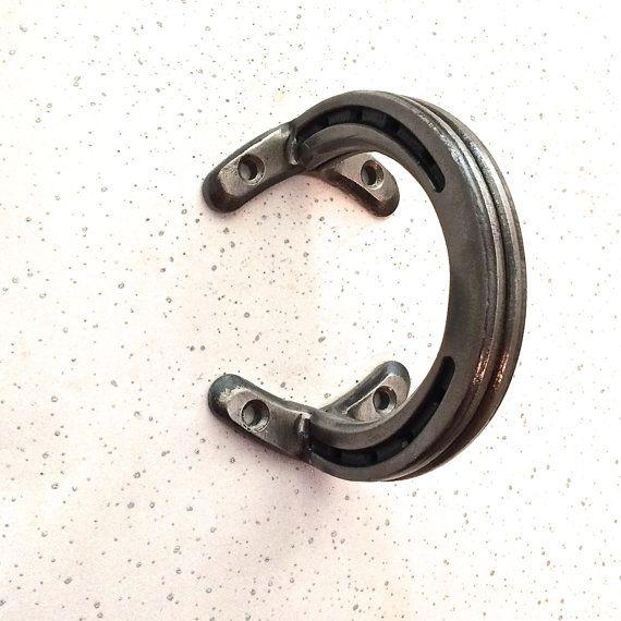 Sliding Barn Door handle hardware from horseshoes. For rolling barn doors, dutch doors, interior doors. Including 4 screws.  Used in man