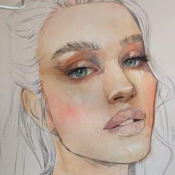 Madchen Portrait Mit Aquarell Malen Im Creativeclub Blog