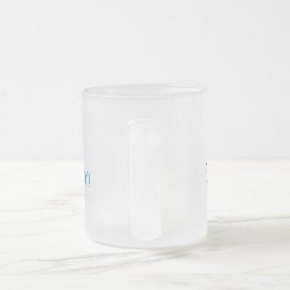 #Happy Birthday Emoji Frosted Glass Coffee Mug - #birthday #gifts #giftideas #present #party