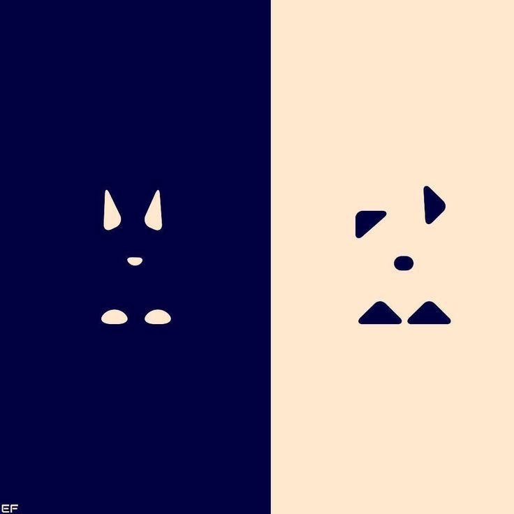 Dog & cat, white & black 😺🐶✍ #graphic #graphics #graphicdesign #inspiration #art #illustration #minimalism #black&white #fraktalion_design #creative #logodesign #vectors #vector #vectorart #minimal #minimalist #cats #dogs #animals #designer #vectorillustration #vectorart