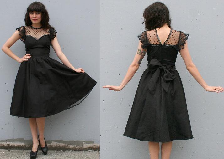 vintage 80s prom dress