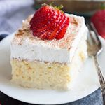 It just really wouldnt be a Cinco de Mayo celebration without some TRES LECHES CAKE Ultra light cake soaked in a sweet milk mixture and topped with fresh whipped cream and cinnamon Click tastesbetterfromscratch for a link to the recipehttptastesbetterfromscratchcomtreslechescake