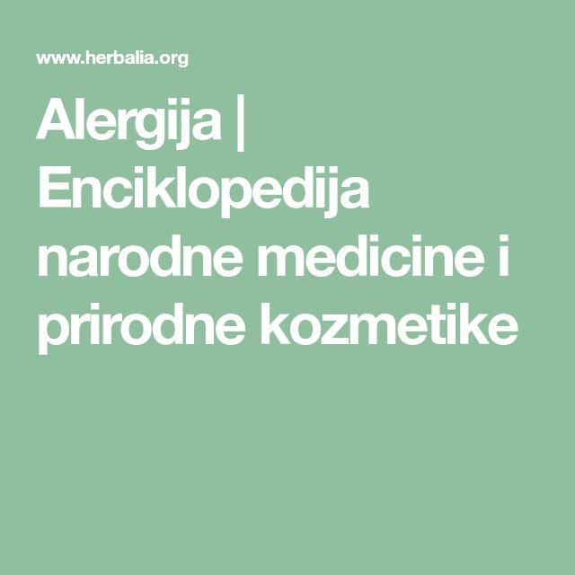 Alergija | Enciklopedija narodne medicine i prirodne kozmetike