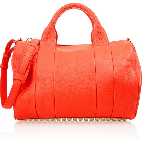Alexander Wang The Rocco textured-leather bag ($850) ❤ liked on Polyvore
